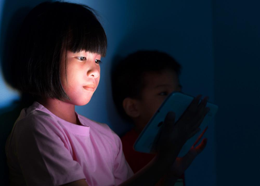Family enjoying internet provided by EBB program