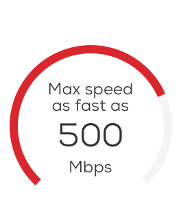 Max speed 500 Mbps
