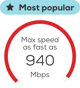 Max speed 940 Mbps